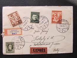 R-BRIEF Liptovsky Sväty Mikulas - Kobyly Mohelnice Nad Jizerou 1939 ///  D*35140 - Slowakische Republik