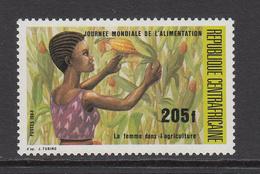 1984 Central African Republic World Food Day Picking Maize Set Of 1 MNH - Zentralafrik. Republik