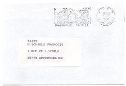 RHIN / Haut - Dépt N° 68 = RIBEAUVILLE  1991 = FLAMME Type II PP = SECAP Illustrée 'CENTRE TOURISTIQUE / Piscine - VINS' - Marcophilie (Lettres)