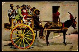 Palermo - Carretto - Viaggiata 1910 - Rif. 00292 - Palermo