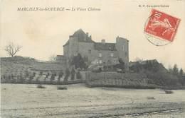 """CPA FRANCE 71 """"Marcilly-la-Gueurce, Le Vieux Château"""" - France"""