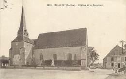 """CPA FRANCE 72 """"Melleray, L'Eglise Et Le Monument"""" - France"""