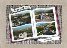 CPSM Dentelée - SAINT-JULIEN-des-POINTS (48) - Carte De Multi-vues Aériennes Au Livre (album Photos) Ouvert  De 1970 - France
