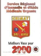 CHIMAY - POMPIERS -  Calendrier 2000 - Service Régional D'Incendie Et D'Aide Médicale Urgente - Calendriers