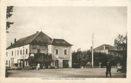 "CPA FRANCE 38 "" Corbelin, Place Du Bois Vion"" - Corbelin"