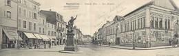 """CPA PANORAMIQUE FRANCE 88 """"Remiremont, Grande Rue, Les Arcades"""" - Remiremont"""