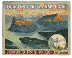 LIVRET DEPLIANT HORAIRES LIGNE SUISSE ENTRE BURGENSTOCK ET STANSERHON BATEAU + FUNICULAIRE - Europe