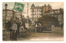 MARSEILLE ATTELAGE PROVENCAL / CHEVAUX / CHARBON CHARBONNIER CASTELLANE   B691 - Castellane, Prado, Menpenti, Rouet