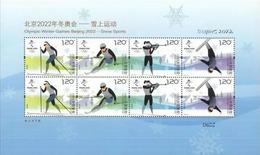 China 2018 Pre 2022 Winter Olympic Games S/S MNH - Inverno 2022 : Pechino
