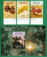 PALESTINE 2017 - PALM TREES & DATE 3v + M/S MNH ** Full Set - PALESTINIAN Fruits, Dates Fruit, Tree, Nature - As Scan - Palestine