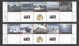 S114 BRITISH ANTARCTIC TERRITORY NATURE GLACIERS #604-13 MICHEL 21 EURO SET MNH - Other