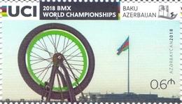 2018 Azerbaijan Stamps UCI BMX World Championships One Single Stamp Azermarka - Azerbaïjan