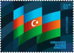 Newest Azerbaijan Stamps 2018. Azerbaijan State Flag Day. Azermarka - Azerbeidzjan