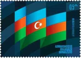 Newest Azerbaijan Stamps 2018. Azerbaijan State Flag Day. Azermarka - Azerbaijan
