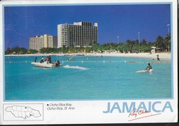 JAMAICA - OCHO RIOS BAY - VIAGGIATA 1998 FRANCOBOLLO ASPORTATO - Cartoline