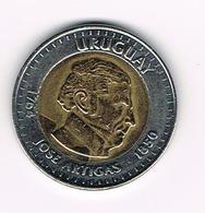 &  URUGUAY 10 PESOS URUGUAYOS  2000 - Uruguay
