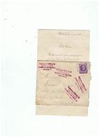 CORRESPONDANCE POUR   SARS - LA - BUISSIERE (BELGIQUE) 1924 - 1914-18