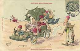 Illustrateur Signe SCENES  ALGERIENNES  Moderne Expess Sahara RV - Humour