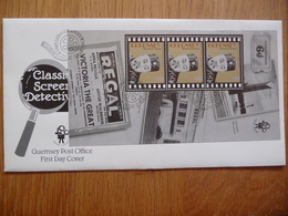 """(D)GUERNSEY CLASSIC SCREEN DETECTIVIVES 7 FDC""""S AND 5 S/S MNH 100 YEAR CINEMA 06-11-1996 - Guernsey"""