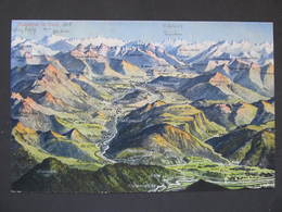 AK BRUNECK MÜHLBACH LÜSEN VILL RAAS Pustertal V. Vogelschau 1915 ///  D*35172 - Italien