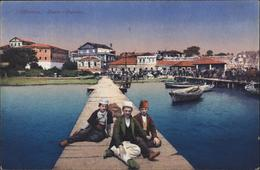 CP CPA Carte Postale Albanie Albanien Durz Durazzo Enfants Sur Ponton - Albania