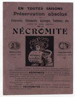 Publicité  -- NECROMITE -- Papier  épais  Format  12cm X 16cm - Publicités