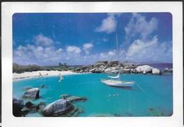 BRITISH VERGIN ISLANDS - DEVIL'S BAY - FORMATO GRANDE 17X12 - VIAGGIATA FRANCOBOLLO ASPORTATO - Cartoline