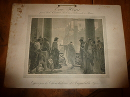 Ancien Carton Publicitaire Offert Par CHOCOLATERIE D' AIGUEBELLE (Drôme) :ECCE HOMO Par Ant. Ciseri,Galerie Nle à Rome - Plaques En Carton