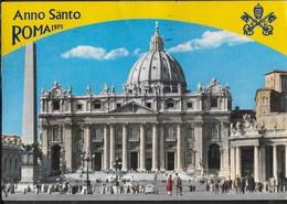 VATICANO BASILICA S.PIETRO - ANNO SANTO 1975 - VIAGGIATA 1975 FRANCOBOLLO ASPORTATO - Vatican