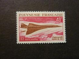 POLYNESIE FRANCAISE, Poste Aérienne, Année 1969, YT N° 27 Neuf, Très Légère Trace Charnière (cote 66 EUR) - Airmail
