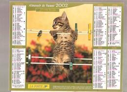 Almanach Du Facteur - 2002 - Département Du Nord - 59 - Cartier-bresson - Calendars