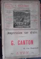 PUB 1893 - Huile Delaunay Fécamp, Impression Sur Cuir G. Canton Lyon, Épuration Eaux P. Gaillet Lille, Lit Fer Genevois - Advertising