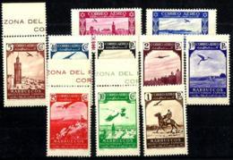 Marruecos Español Nº 186/195 En Nuevo - Maroc Espagnol