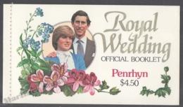 Penrhyn 1981 Yvert C179-80, Royal Wedding, Booklet - MNH - Penrhyn