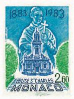Ref. 32456 * NEW *  - MONACO . 1983. CENTENARY OF MONTECARLO SAINT-CHARLES CHURCH. CENTENARIO DE LA IGLESIA DE SAN CARLO - Monaco