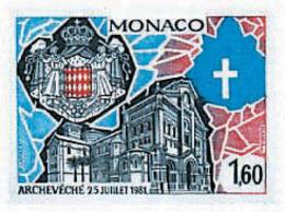 Ref. 32675 * NEW *  - MONACO . 1982. ARCHEVECHE DE MONACO. ARZOBISPADO DE MONACO - Monaco