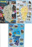 20 CORSE / LOT DE 3 CARTES GEOGRAPHIQUES - Maps