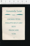 2 Scans Humour Amanda Lear Grosses Têtes Philippe Bouvard / Omoplate Os 124/6-D - Unclassified