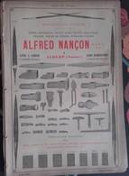 PUB 1893 - Limes Outils A. Nancon Albert 80, Absinthe Vermouth Rivoire Marseille - Advertising