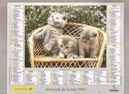 Almanach Du Facteur - 2004 - Département Du Nord - 59 - Oberthur - Calendriers