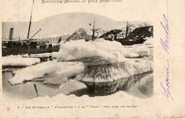 Missions. CPA. Expédition André Au Pole Nord.1897. Les Navires Le Svensksund Et Le Vargo Pris Dans Les Glaces.  1902. - Missions
