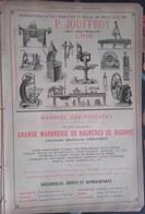 PUB 1893 - Machines-Outils P. Jouffroy Lyon, Marbres Pyrénées Géruzet Bagnères, Margarines Radisson Marseille, Marrons G - Advertising