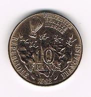 &  FRANKRIJK 10 FRANCS  100 JAAR DOOD  LEON  GAMBETTA  1982 - France