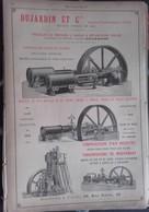 PUB 1893 - Mécaniques Stapfer De Duclos Marseille-Joliette, Dujardin LILLE 59 - Advertising