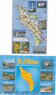 17 D 'OLERON  / LOT DE 2 CARTES GEOGRAPHIQUES - Maps