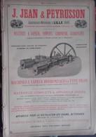 PUB 1893 - Mécaniques J. Jean & Peyrusson Lille 59 Nord, V. Coq Aix En Provence, Crepelle Garand Lille 59 - Advertising