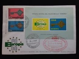 REPUBBLICA - Europa CEPT 1968 Serie + Foglietto Ricordo Ufficiale + Spese Postali - 6. 1946-.. Repubblica