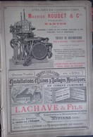 PUB 1893 - Mécaniques M. Houdet Nantes, Lachave Viviers 07, V. Liné Albert 80, Meunier & Chauvet Pont D'Arenc 13 - Publicités