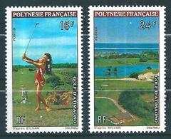 POLINESIA FRANCESA 1974 - DEPORTES - GOLF - YVERT Nº 94-95** - MICHEL 175-176** - SCOTT 275-276** - French Polynesia