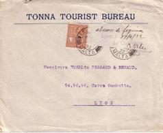 """MALTE , FRANCE - LETTRE DE VALETTE POUR LYON , CONTROLE """" ABSENCE DE FIGURINES """" - 1932 - Marcophilie (Lettres)"""